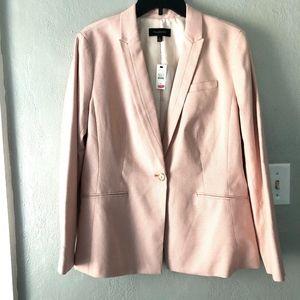 NWT Talbots Shepherd's Check Pink Blazer Womens 12